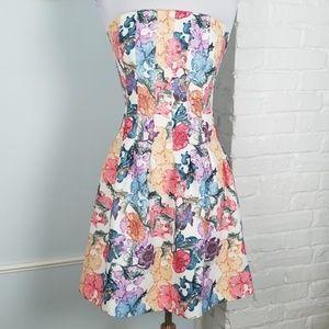 H&M bustier strapless dress